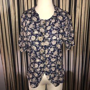 Vintage floral blouse.